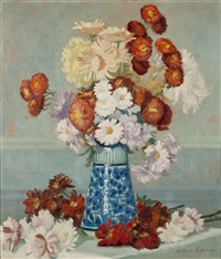 nature morte aux fleurs by william-victor aubert