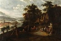 descanso en la fuente by flemish school (17)