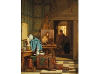 the artist's studio by charles joseph grips