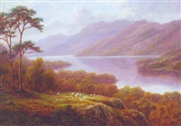 loch earn, scotland by everett w. mellor