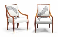 armchairs (pair) by andré arbus