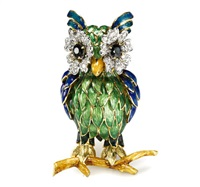 an owl brooch by moba