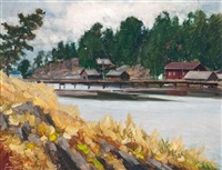 autumn in the archipelago by grigor auer