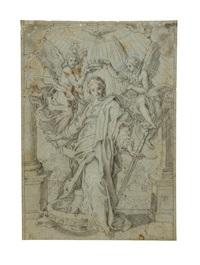santa caterina d'alessandria incoronata dagli angeli by luigi garzi