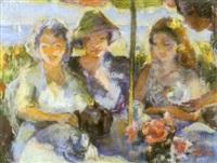 le thé sous un parasol by suzanne kaehrling