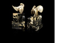 turkey bookends (pair) by george h laurent