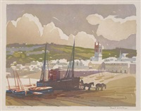 tide out, st. ives by ernest w. watson