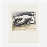 reclining nude (from sketchbook 1980) by henry moore