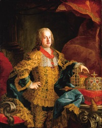 portait of the emperor franz i by johann gottfried auerbach