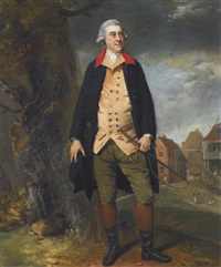 portrait of sir robert preston, 6th bt. (1740-1834) by johann joseph zoffany