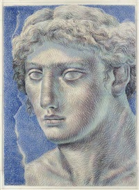 head of a young woman by ricardo cinalli