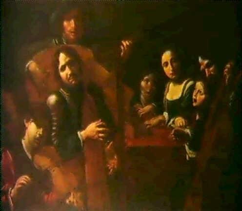 musizierende gesellschaft by jean valentin de boulogne