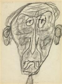 portrait of jules supervielle by jean dubuffet