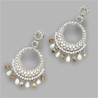 a pair of pendant-earclips by valente