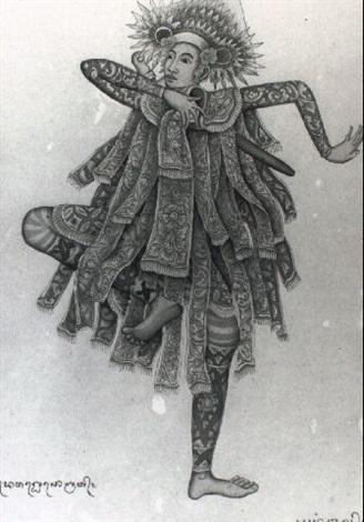 baris gdeh a ceremonial dance by anak agung gede sobrat