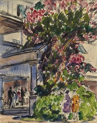 flowering tree, figures by gifford beal