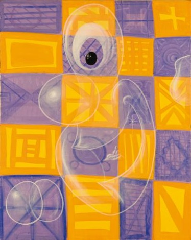 checkerboard ghost by kenny scharf