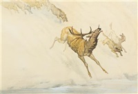 the hunt by frederic remington