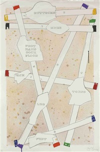 untitled i (sketch) (from casts from untitled) by jasper johns