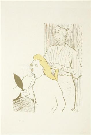 le coiffeur - programme du théâtre libre by henri de toulouse-lautrec