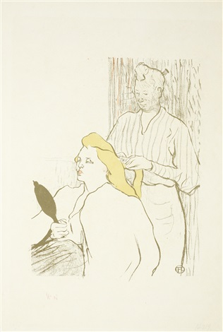 le coiffeur programme du théâtre libre by henri de toulouse lautrec