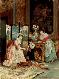 scolding the young child by a. simonetti