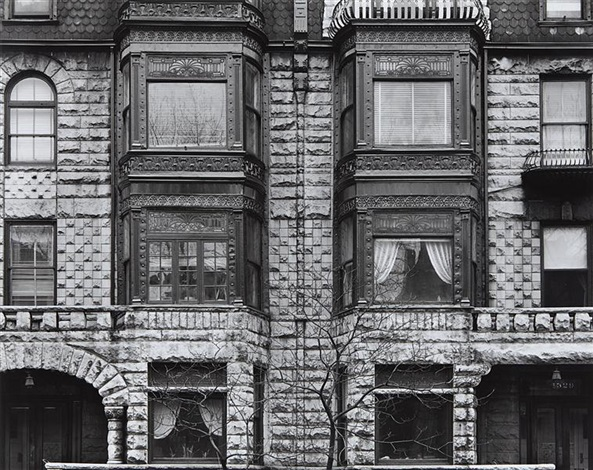facade with tree, chicago by harry callahan