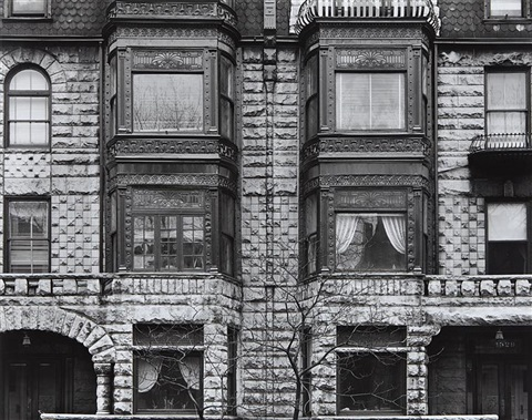 facade with tree chicago by harry callahan