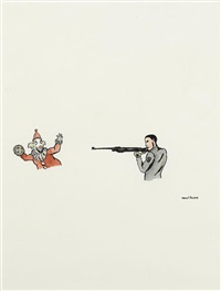 untitled (man and gun) by marcel dzama