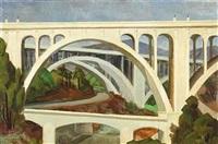 colorado street bridge, pasadena by frode nielsen dann