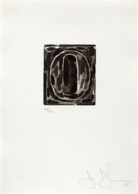 figure 0 (from a set of ten numerals) by jasper johns