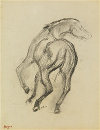 cheval galopant by edgar degas