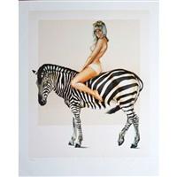 girl on zebra by mel ramos