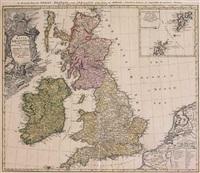 magna britannia complectens angliae, scotiae et hyberniae reg'n by johann christoph homann