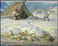 inuit encampment, baffin island by adam sherriff scott