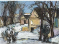 house in winter by charles f. quest