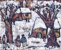 le hameau sous la neige by henri d' anty