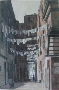the hanging on spruce street (+ davidson shop; 2 works) by mildred kratz