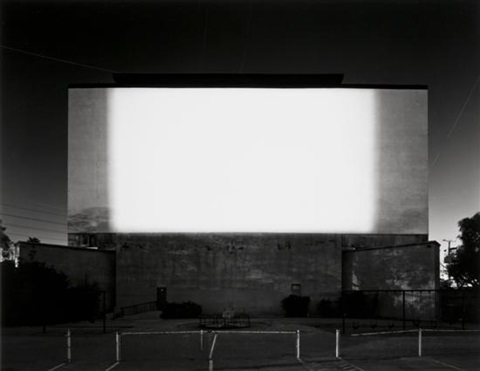 centinela drive-in, los angeles (#707) by hiroshi sugimoto