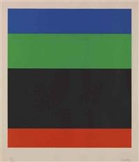 blue/green/black/red by ellsworth kelly