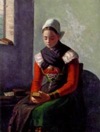 flicka i folkdräkt by emma (helfrid charlotta) toll