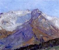 vue de mont blanc by pavel petrovich sokolov-skalua