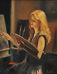 girl painting by ken hamilton