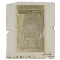 view of the hall at wotton house by john soane