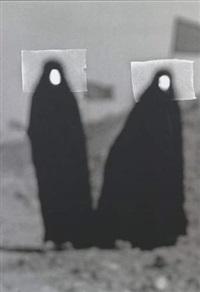 women in the desert (from chador series) by babak kazemi