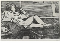 #4 (from 41 etchings drypoints) by richard diebenkorn