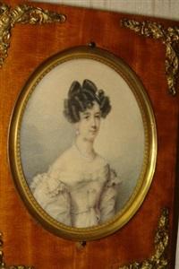 portrait de femme élégante by jeremias david alexander fiorino