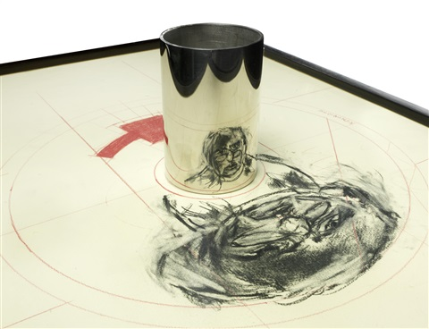 anamorphic self portrait by william kentridge
