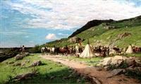 soldati di ventura al bivacco by lorenzo delleani