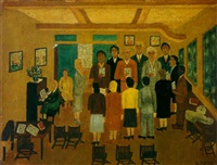 choir practice by horace pippin